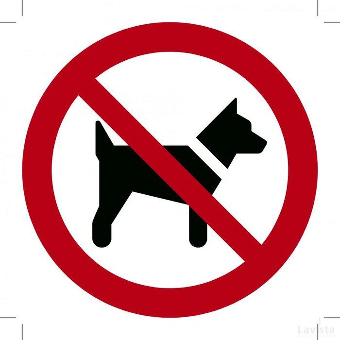 Verboden voor Honden 150x150 (bordje)