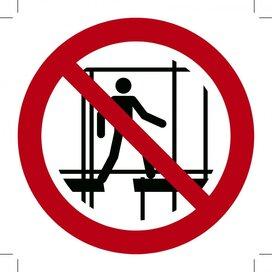 Verboden onafgewerkte Stelling te Gebruiken 100x100 (sticker)