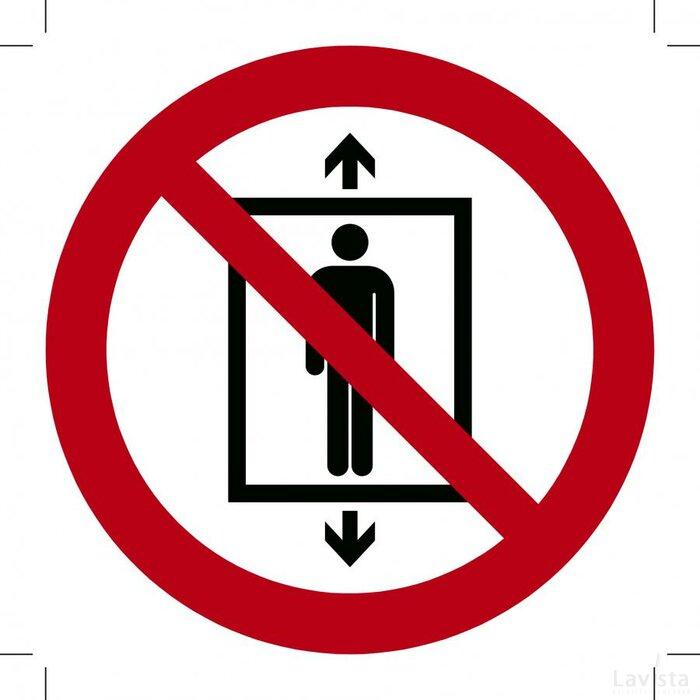 Lift verboden voor personen 400x400 (sticker)