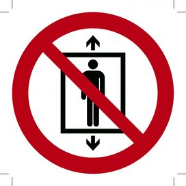 Lift verboden voor personen 500x500 (sticker)