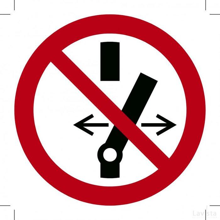Verboden te schakelen 200x200 (sticker)