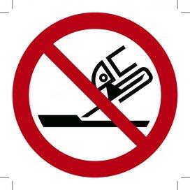 Verboden Slijpschuif te Gebruiken 200x200 (sticker)