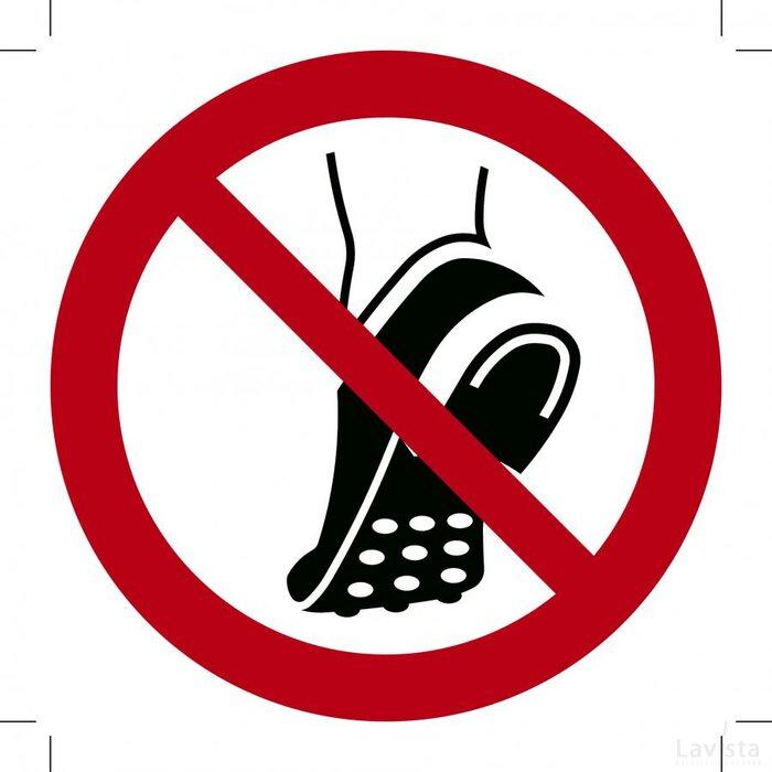 Verboden Schoenen Met Metalen Noppen te Dragen 400x400 (sticker)