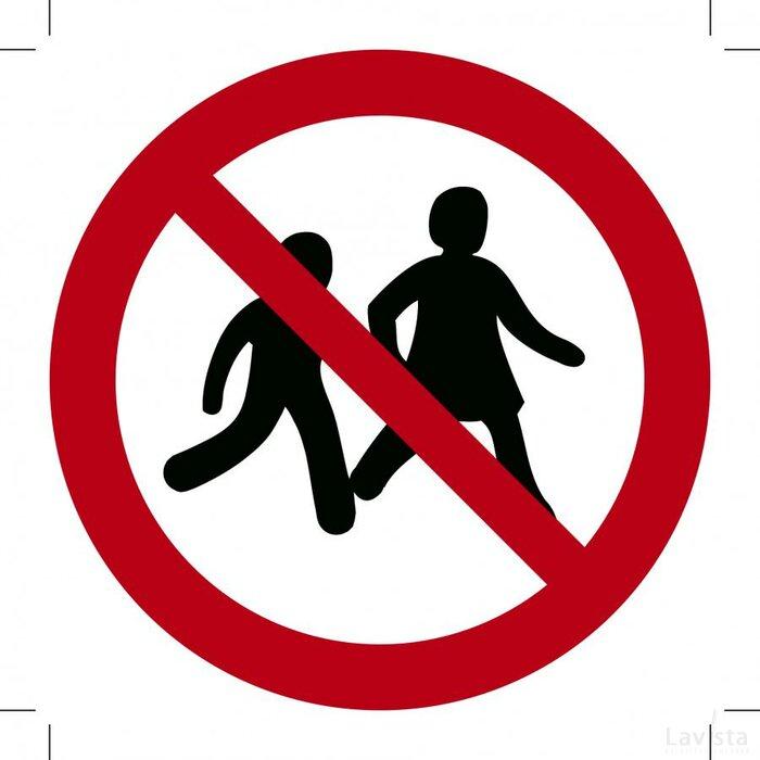 Verboden voor kinderen 300x300 (sticker)