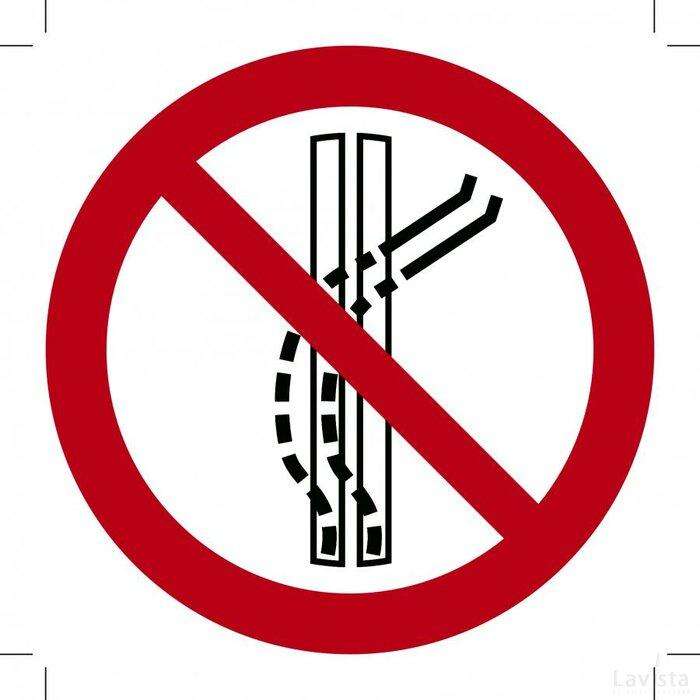 Verboden sleepbaan te verlaten 100x100 (sticker)