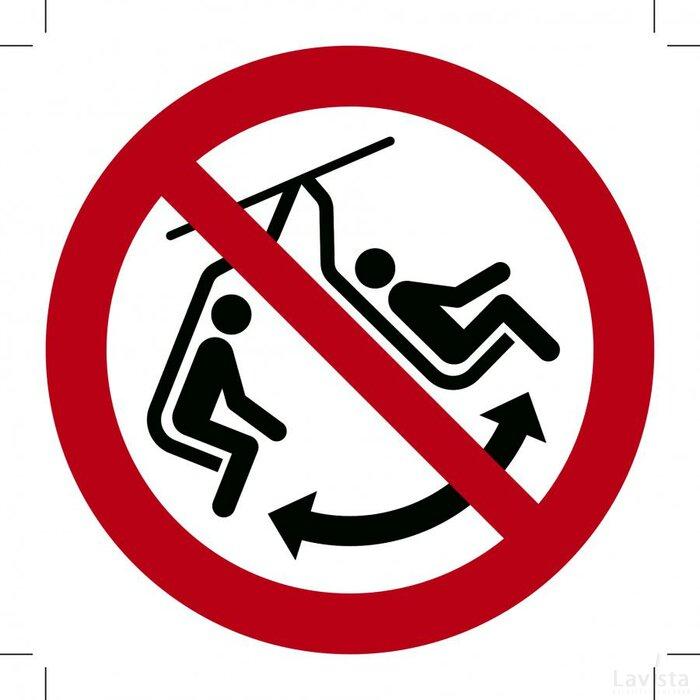 Verboden te Schommelen 100x100 (sticker)