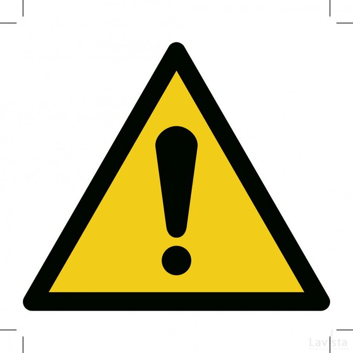 General Warning Sign 100x100 (sticker)