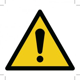 General Warning Sign 500x500 (sticker)