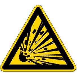Waarschuwing, Explosieve Stoffen (Sticker)