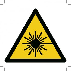 Warning; Laser Beam 300x300 (sticker)