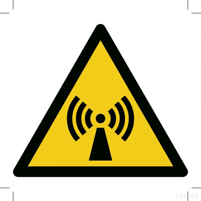 Warning; Non-ionizing Radiation 200x200 (sticker)