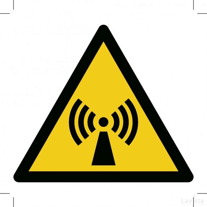 Warning; Non-ionizing Radiation 300x300 (sticker)