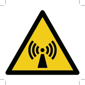 Warning; Non-ionizing Radiation 400x400 (sticker)