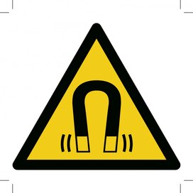Warning; Magnetic Field 100x100 (sticker)