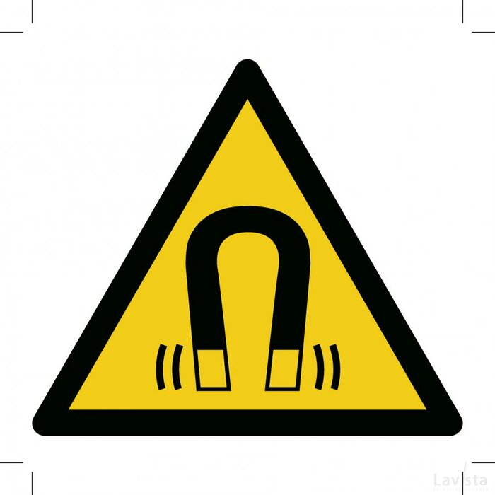Warning; Magnetic Field 500x500 (sticker)
