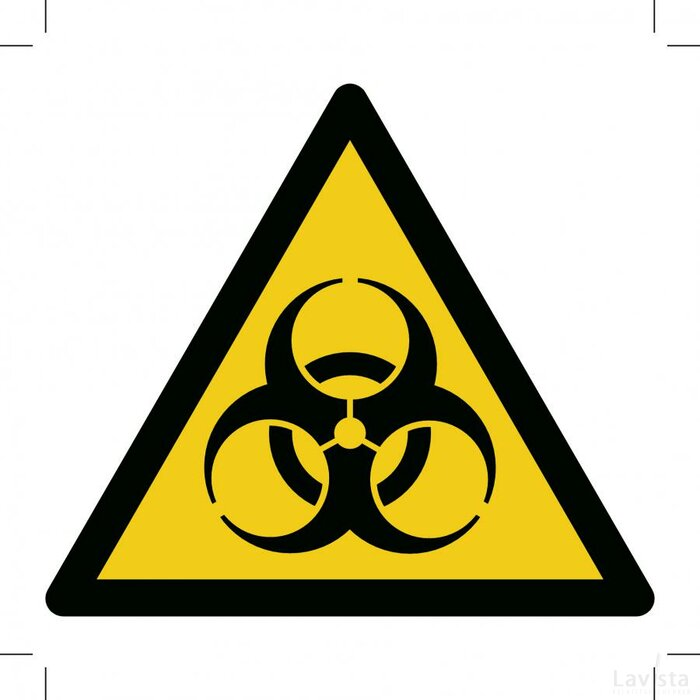 Warning; Biological Hazard 100x100 (sticker)