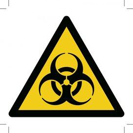 Warning; Biological Hazard (Sticker)