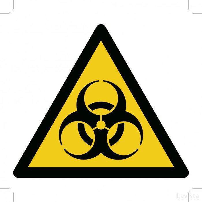 Warning; Biological Hazard 500x500 (sticker)