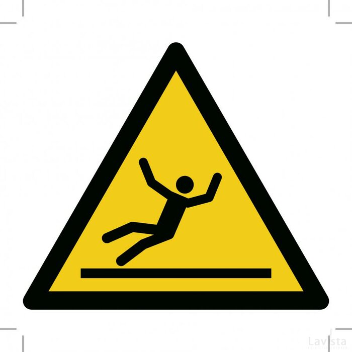 Warning; Slippery Surface 100x100 (sticker)