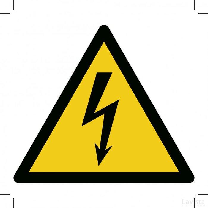 Waarschuwing, Elektrische Spanning (Sticker)