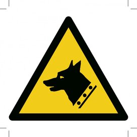 Warning; Guard Dog 200x200 (sticker)