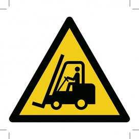Warning; Forklift Trucks And Other Industrial Vehicles 100x100 (sticker)