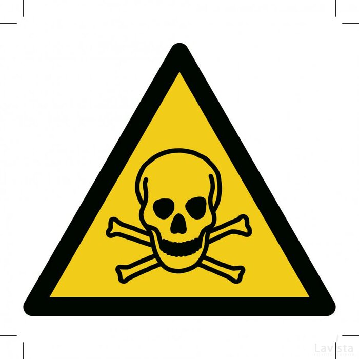 Warning; Toxic Material (Sticker)