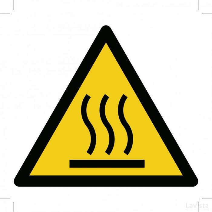 Warning; Hot Surface (Sticker)
