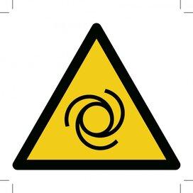 Waarschuwing, Automatische startende machine 200x200 (sticker)