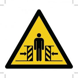 Warning; Crushing (Sticker)