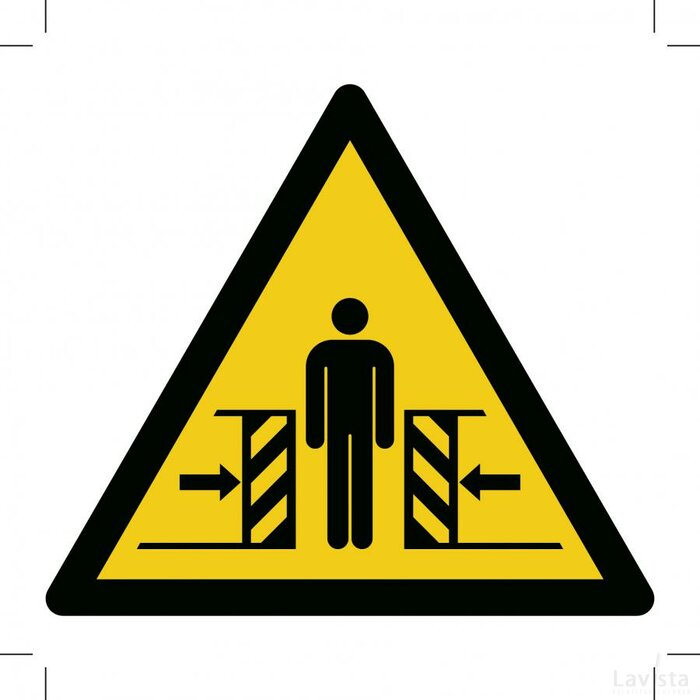 Warning; Crushing 100x100 (sticker)