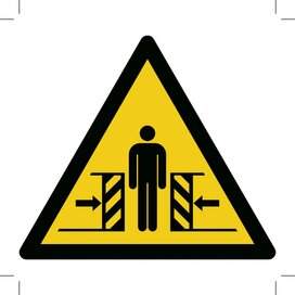 Warning; Crushing 150x150 (sticker)