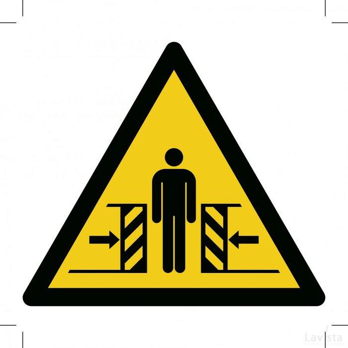 Warning; Crushing 200x200 (sticker)