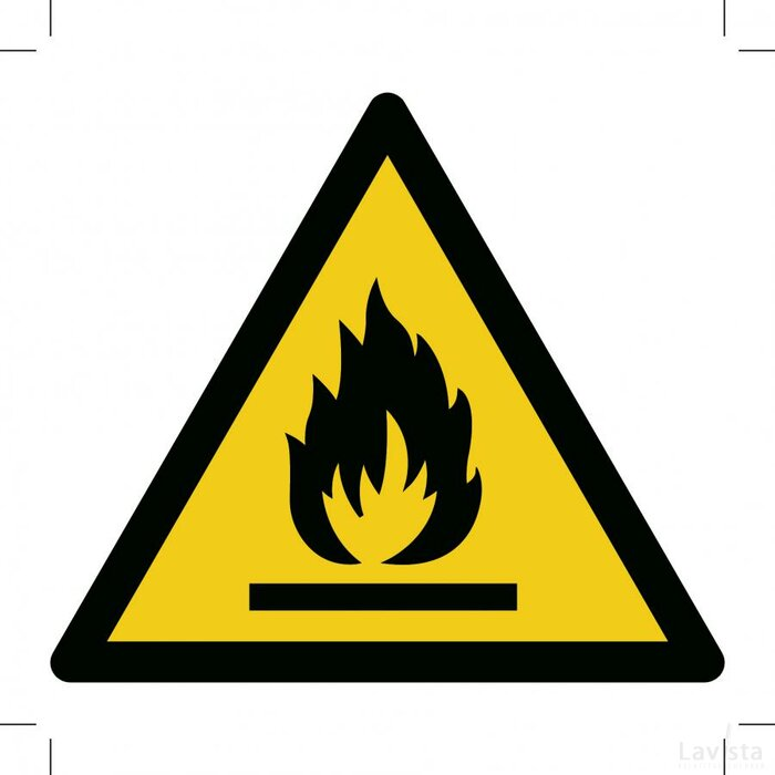 Warning; Flammable Material 100x100 (sticker)