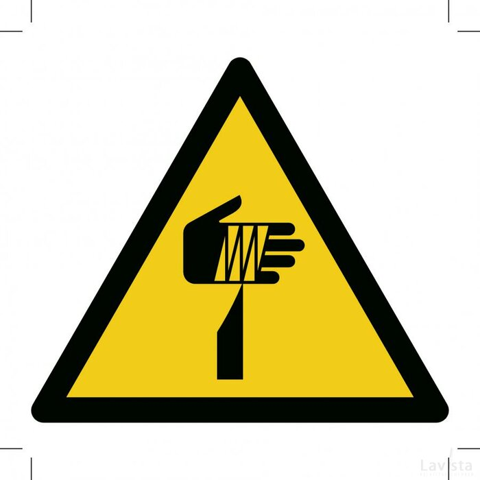 Warning; Sharp Element 100x100 (sticker)