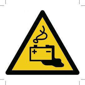 Warning; Battery Charging 200x200 (sticker)