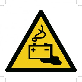 Warning; Battery Charging 500x500 (sticker)