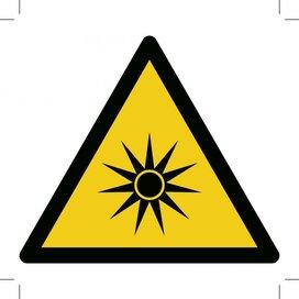 Warning; Optical Radiation 100x100 (sticker)
