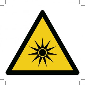 Warning; Optical Radiation 200x200 (sticker)