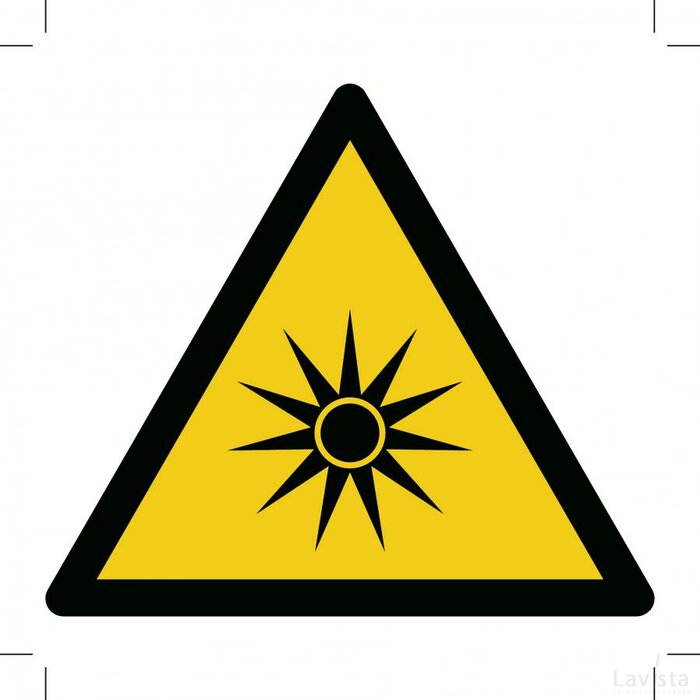 Warning; Optical Radiation 500x500 (sticker)
