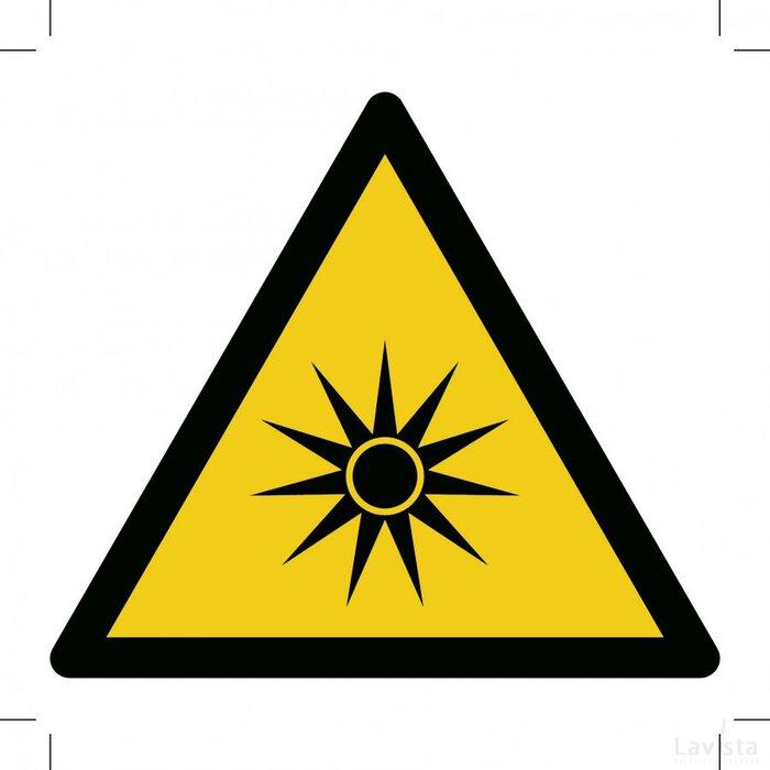 Warning; Optical Radiation 500x500 (sticker)