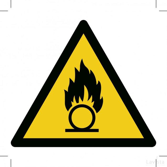 Waarschuwing, Oxiderende stoffen300x300 (sticker)