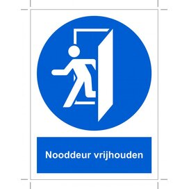 Nooddeur Vrijhouden (Sticker)