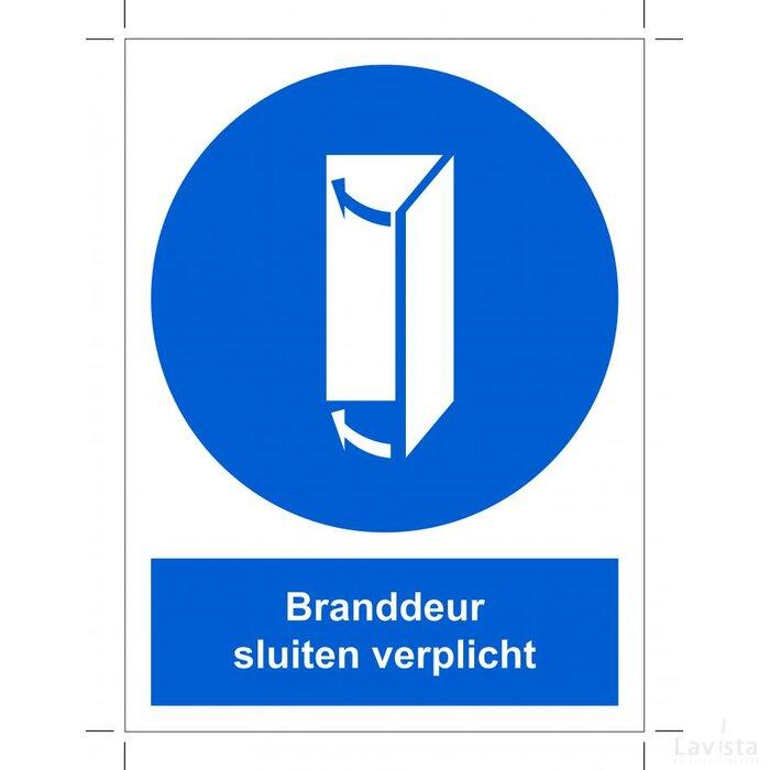 Branddeur Sluiten Verplicht 140x200 (sticker)