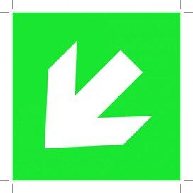 Pijl Links Onder (Sticker)