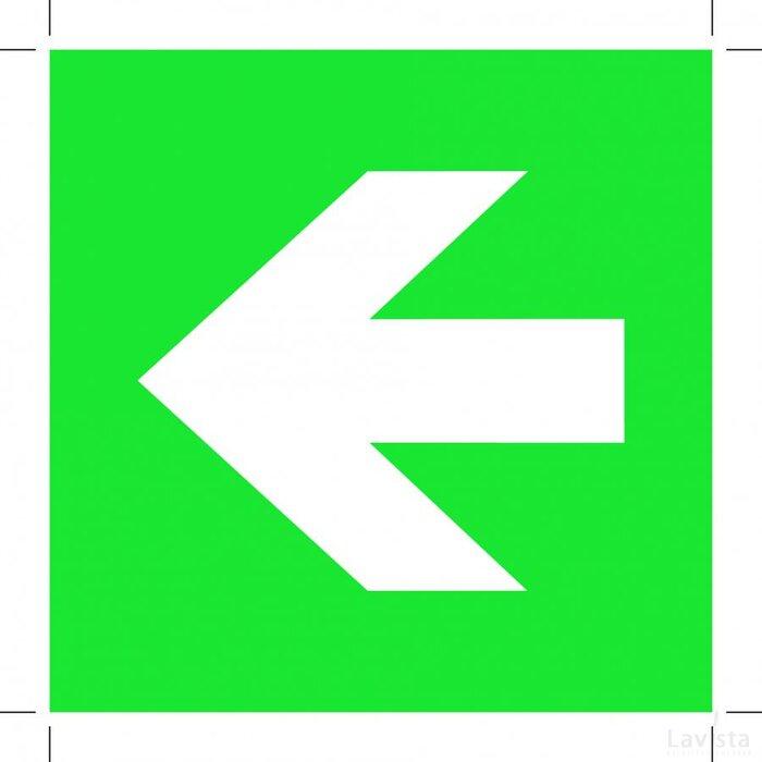 Pijl Links 200x200 (sticker)