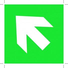 Pijl Links Boven (Sticker)