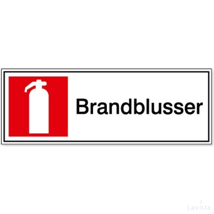 Brandblusser 100 x 100 mm (sticker)