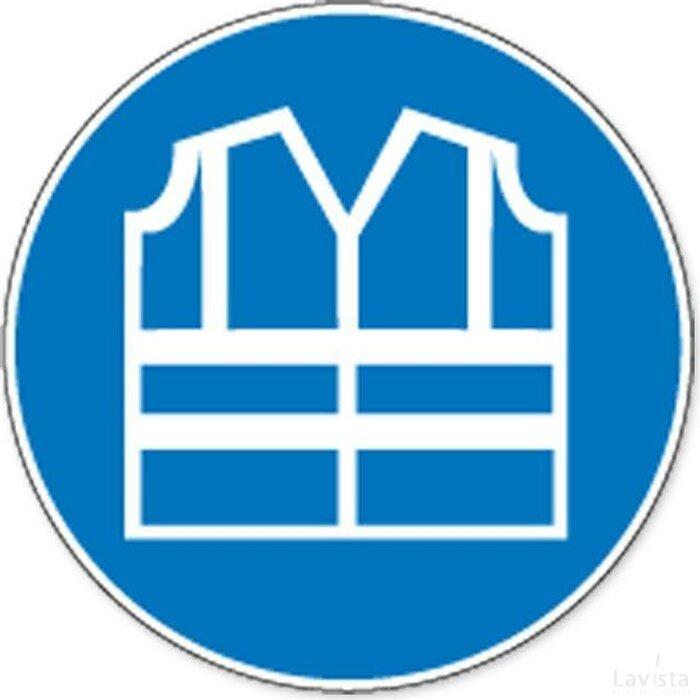 Veiligheidsjas Met Verhooge Zichtbaarheid Verplicht (sticker)
