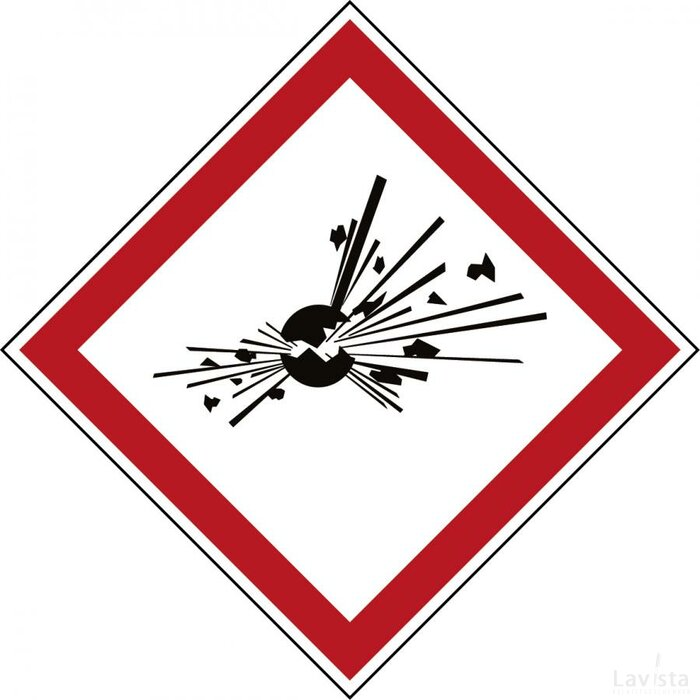 Ghs Symbool - Ghs01 - Explosiegevaar (sticker)